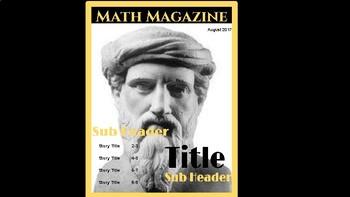 Math Magazine (Famous Mathematicians) Digital Project