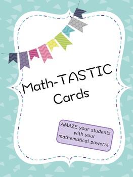 Math-tastic Cards
