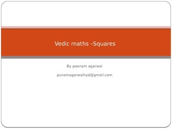 vedic maths  - squares