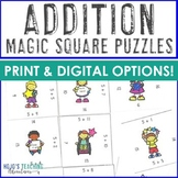 Addition Games, Worksheet Alternatives, Puzzles, Centers, or Math Fact Games