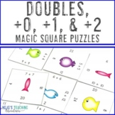 Adding Doubles and 0, 1, 2   FUN Math Game, Center, Station, Review, or Activity