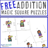 FREE Addition Facts Magic Square Puzzle Game or Math Cente