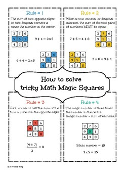 Math Magic Squares - How to Solve tricky 3x3 Magic Squares