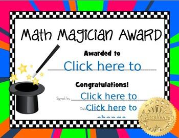 Math Magician Award