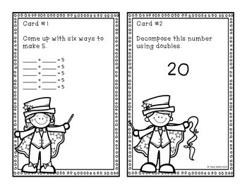 Decomposing Numbers to 20 - Grades 1 - 2 Task Cards - Math Magicians