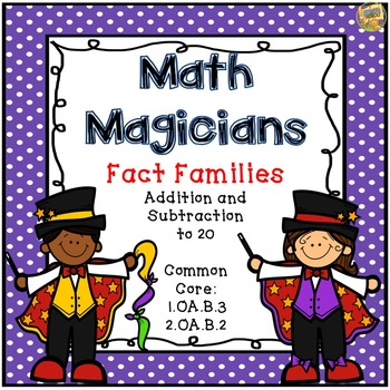 Task Cards - Math Magicians - Fact Families - Grades 1 and
