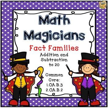 Fact Families - Task Cards - Grades 1 and 2  1.OA.B.3  2.O