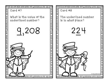 Place Value to 10,000 Task Cards - SCOOT - Math Magicians - Grades 2-4