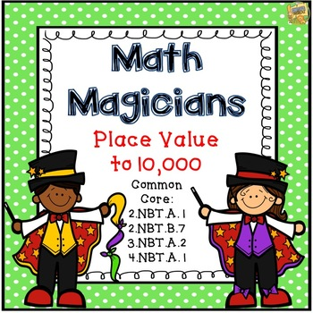 Place Value to 10,000 Task Cards - SCOOT - Math Magicians