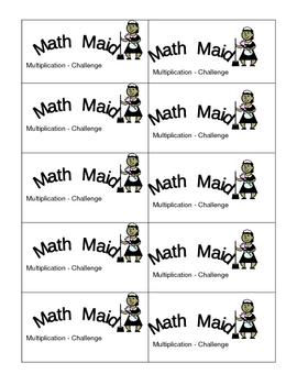 Math Maid: Multiplication Challenge