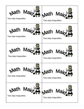 Math Maid: Two-Step Inequalities