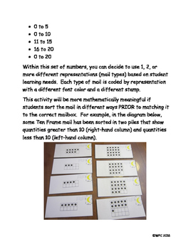 Math Mail: Sorting and Matching Numbers 0 to 20