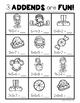Math Make A Ten {Christmas Elf Themed} First Grade Print and Go!