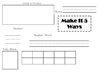 Math:  Make It 5 Ways