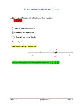 Math Makes Sense 7 WNCP Edition - Unit 3:Fractions,Decimals,& Percents-Solutions