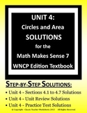 Math Makes Sense 7 WNCP Edition - Unit 4:Circles and Area - Solutions Manual