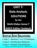 Math Makes Sense 7 WNCP Edition - Unit 7: Data Analysis - Solutions Manual