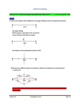 Math Makes Sense 7 WNCP Edition - Unit 8: Geometry - Solutions Manual