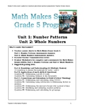 Math Makes Sense Grade 5 (2005) Unit 1 and Unit 2, Assessments.
