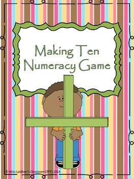 Math: Making Ten Numeracy Game {6 Themes} - addition and subtraction