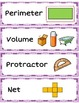 Math Word Wall Labels - Measurement