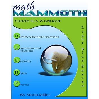 Math Mammoth Grade 6 Complete Curriculum