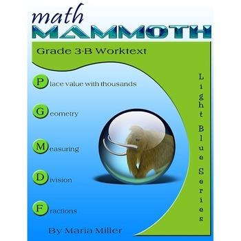 Math Mammoth Light Blue Series Bundle (grades 1-7)