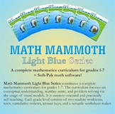 Math Mammoth Light Blue Series Bundle (grades 1-7)