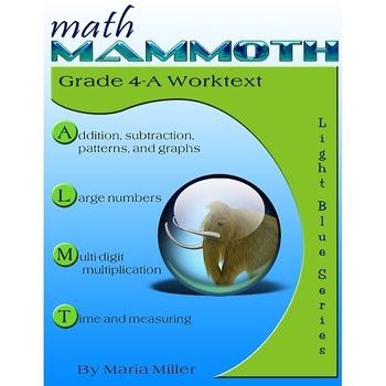 Math Mammoth Light Blue Series (grades 4-7)