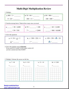 Math Mammoth Review Workbooks