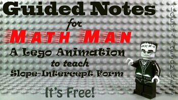 Math Man Slope-Intercept Form notes
