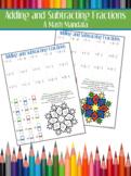 Math Mandala: Adding and Subtracting Fractions
