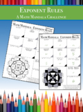 Math Mandala: Exponent CHALLENGE