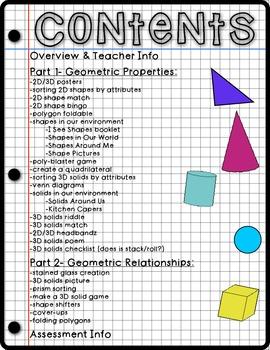 Math Mania: 2D Shapes & 3D Solids