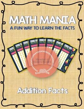 Math Mania: Addition Math Facts