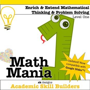 Math Mania - Extend & Enrich Critical Thinking & Problem Solving - Level 1