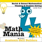 Math Mania - Extend & Enrich Critical Thinking & Problem Solving - Level 4