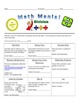 Math Mania Homework Menu