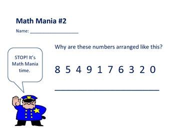 Math Mania! Math Challenge and Logic Problems