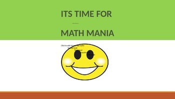 Math Mania - PreAlgebra NAME THAT TERM REVIEW OF VOCABULARY