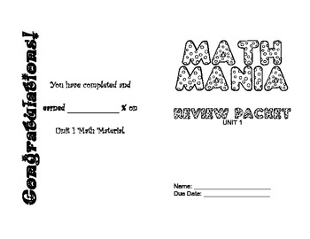 Math Mania Review Booklet