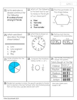 Math Mania- Weekly Math Practice