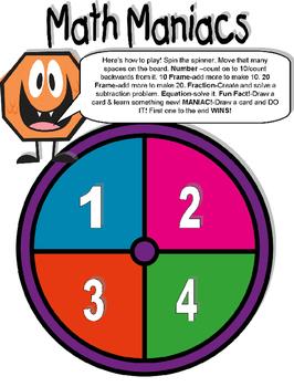 Math Maniacs Operations & Algebraic Thinking Board Game
