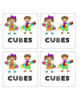 Math Manipulative Bin Labels