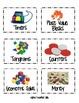 Math Manipulative Bin Labels