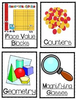 Math Manipulative/Bin Labels