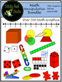 Math Manipulative Clip Art Bundle - over 700 Graphics