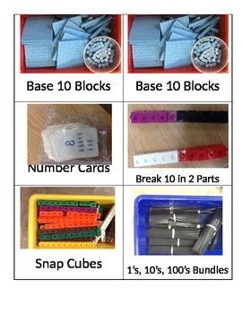 Math Manipulative Drawer Labels