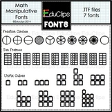 Math Manipulatives Fonts {Educlips Clipart}