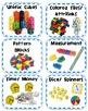 Math Manipulative Labels